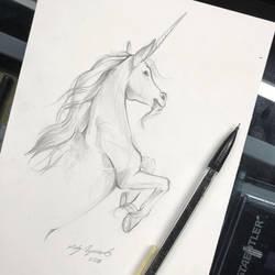 35- Unicorn Sketch by Lucky978