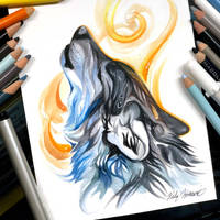 Howling Wolf by Lucky978