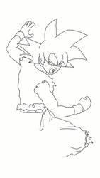 Goku Super Saiyajin God  by WeverthonGTABR