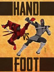 Hand VS Foot by ddbirdman