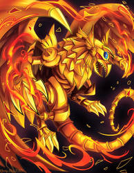 Winged Dragon of Ra by KaceyMeg