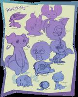 Sketchdump1 - pokemon by monokin