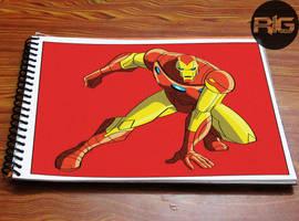 Lazy Drawing - Iron Man's Superhero Landing by RandomIndianGuru