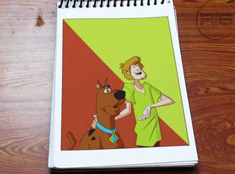 Lazy Drawing - Scooby And Shaggy by RandomIndianGuru