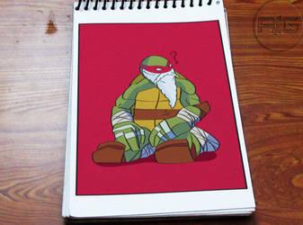 Lazy Drawing - Old Raphael by RandomIndianGuru