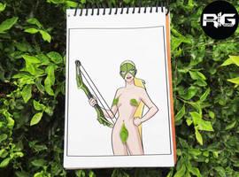 Lazy Drawing - Artemis Crock (T) by RandomIndianGuru