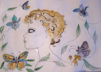 GOLDEN MAGIC..BLUE ORCHID FAIRY by GeaAusten