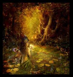 The secret pond by Lillucyka