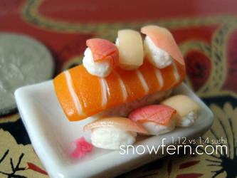 1 12 vs 1 3 sushi by Snowfern