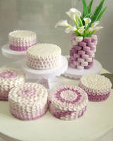 Purple Petal Cakes 1-12 by Snowfern