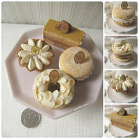 Assorted Miniature 1:3 caramel pastries by Snowfern