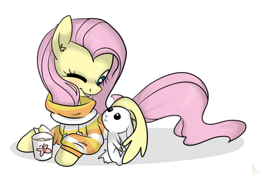 Christmas Shy and Angel by Urin-MP