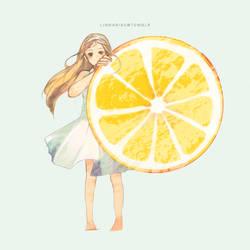 iced lemon slice by kimchicake