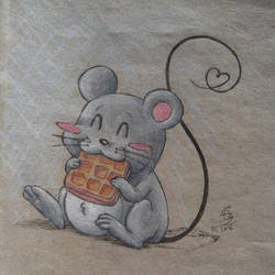 Cute mouse by MusicAndArtItsMyLife