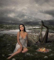 The Travelling Harpist by JonKoomp