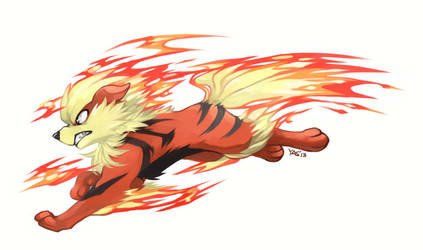 Arcanine Used Flame Charge by yassui