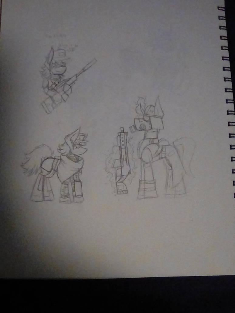 More sci fi ponies stuff by inda26