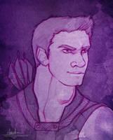 Hawk (Hawkeye Sketch) by AngieParadiseeker