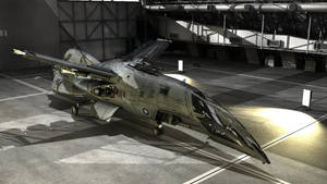 Morrigan-K class Space Fighter in Hangar by brandhuberz