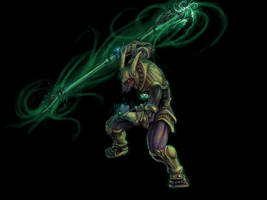 Nasus from League of Legends by Vespertellino