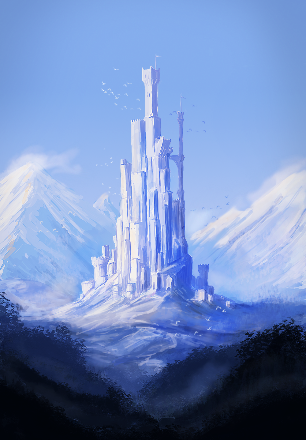 Castle practice sketch by RicoCilliers
