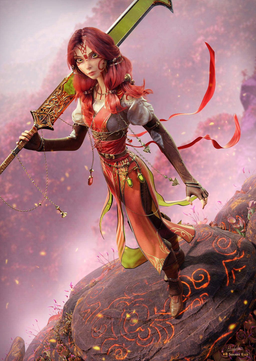 Red Lady by RicoCilliers