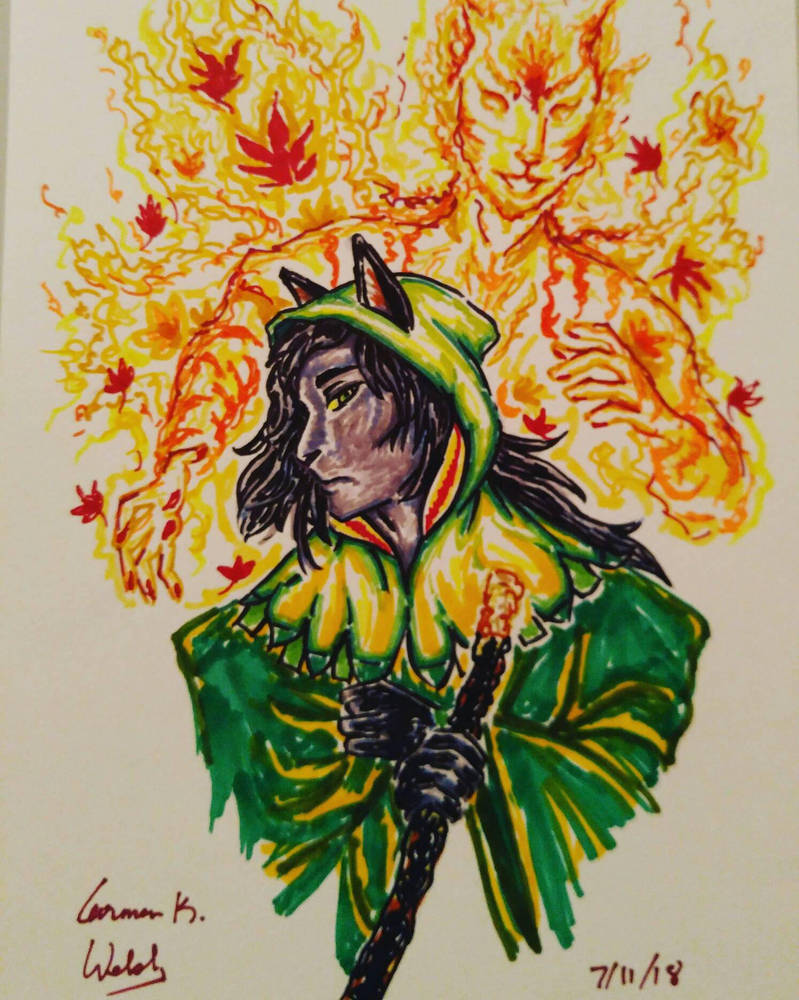 Witch and the Autumn angel by CopperSphinx