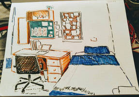 College dorm room interior #1 by CopperSphinx
