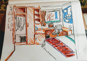 College dorm room interior #2 by CopperSphinx