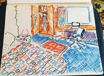 College dorm interior #3 by CopperSphinx