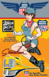 Union Pacific Pin-Up by yankeedog