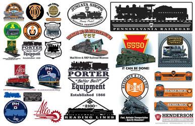 Railroad illustrations by yankeedog