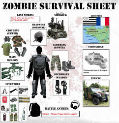 Zombie Survival Sheet by Aerasett