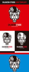 Calavera Studio Logo Vector Template by odindesign