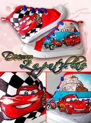 Cars custom shoes by Raw-J