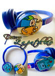 Adventure time custom blue headphones handmade by Raw-J