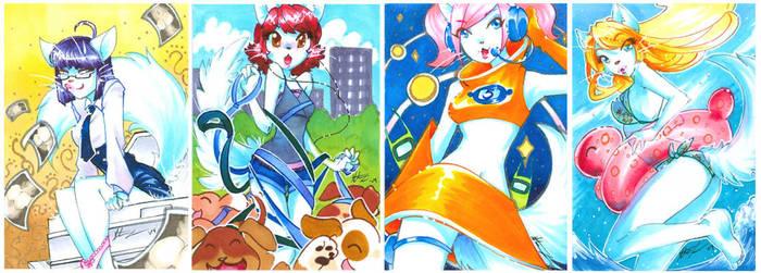 W. Kitty Art Cards I by zetallis