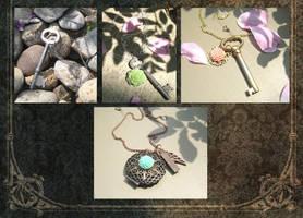 Vintage-esque Necklaces by zetallis