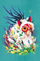 Mononoke Hime Tribute by zetallis