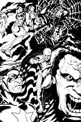 Marvel Heroes... and Flash by Escarleto