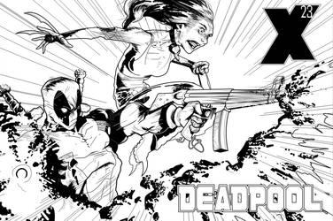 Deadpool X-23 by Escarleto