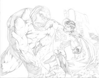 Superman Darkseid by Escarleto