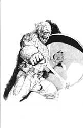 Captain America sketch by Escarleto