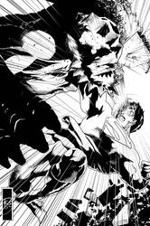 Superman Fight by Escarleto