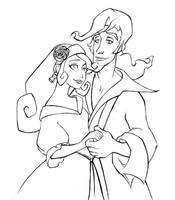 Elaine and Guybrush by tviolaceus