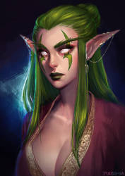 Ama [WoW Portrait Commission] by Ceresy