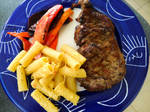 Grilled New York with Pasta and Veggies by YoLoL