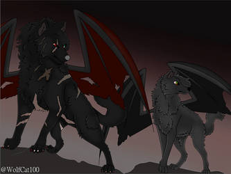 Zenix And Nightrunner by WolfCat100