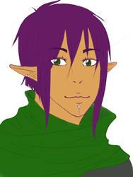 That purple dude. by schizooid