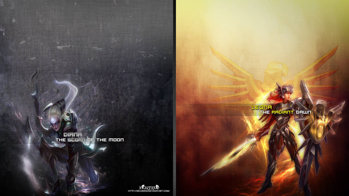 Lol Diana Leona Wallpaper Xrazerxd By Xrazerxd On Deviantart
